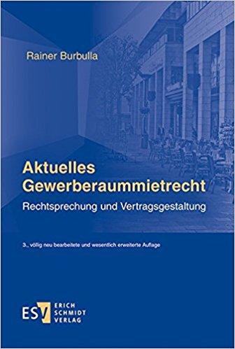 Buchcover: Aktuelles Gewerberaummietrecht